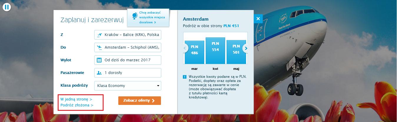 Rezerwacja biletów KLM