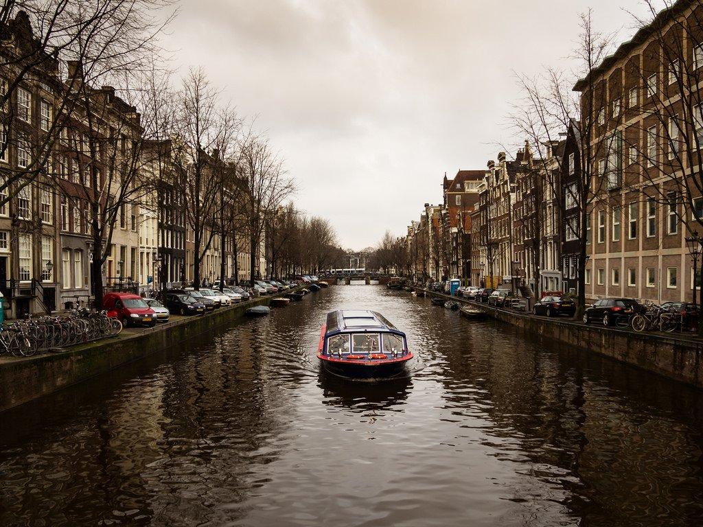 Amsterdam, Jordaan - zima - Duże zdjęcia