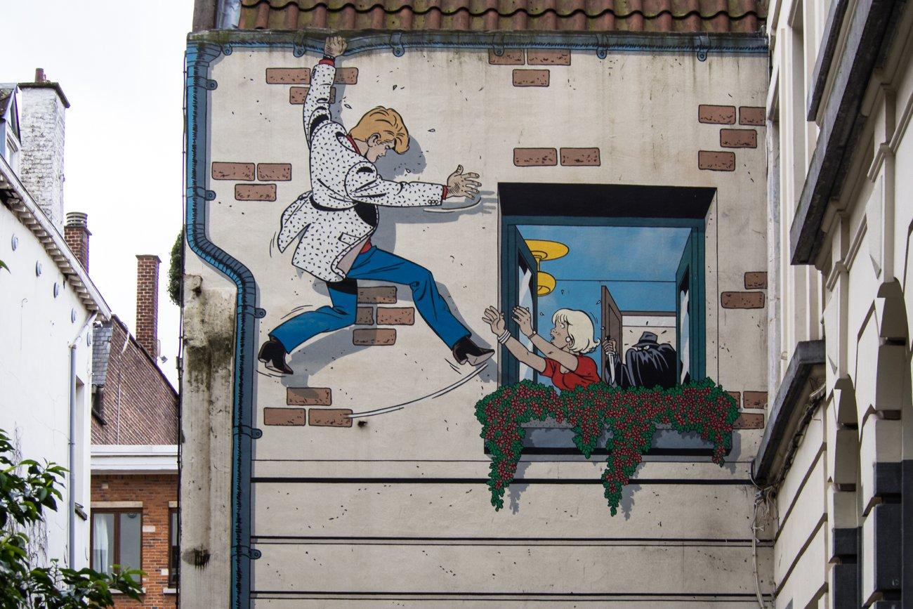 Bruksela szlak komiksów
