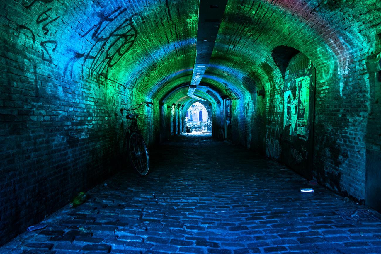 Kolorowy tunel w Utrechcie