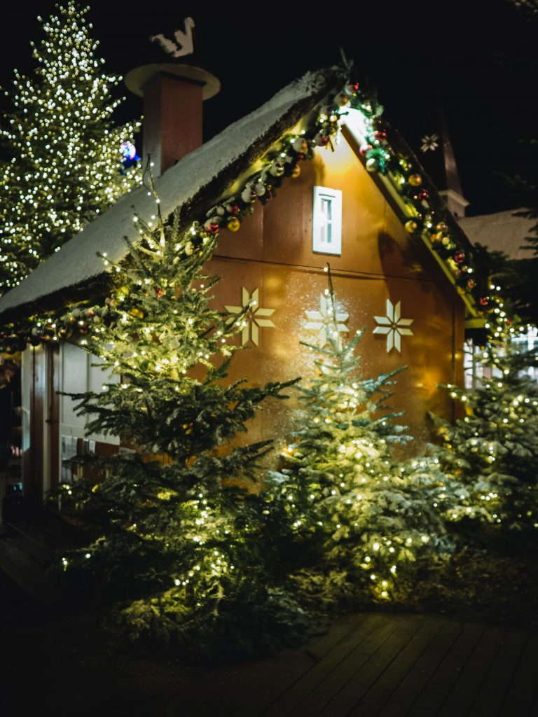 Kopenhaga jarmark świąteczny. Ogrody Tivoli