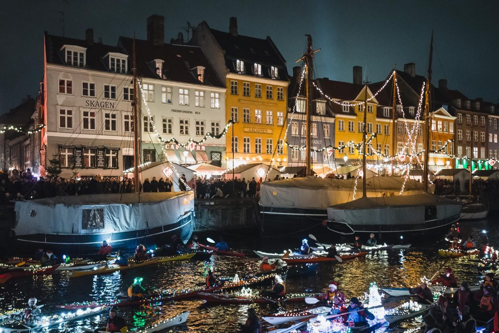 Kopenhaga Dzień św. Łucji Nyhavn